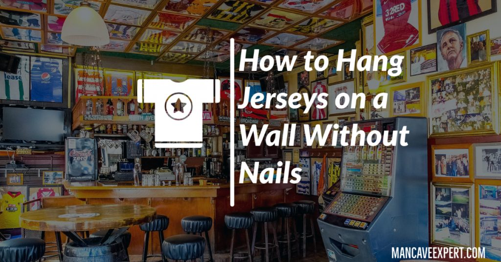 How to Hang Jerseys on a Wall Without Nails
